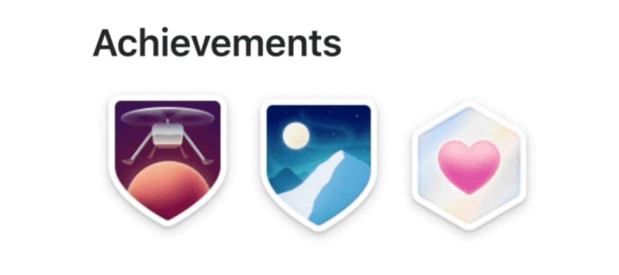 Achievements Badges