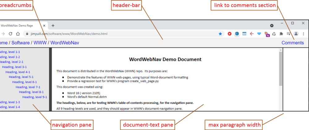 Cover image for WordWebNav : create usable MS-Word web-pages