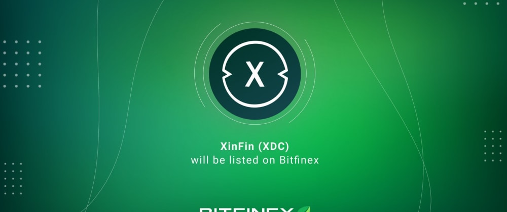 Cover image for XDC Listed on Bitfinex