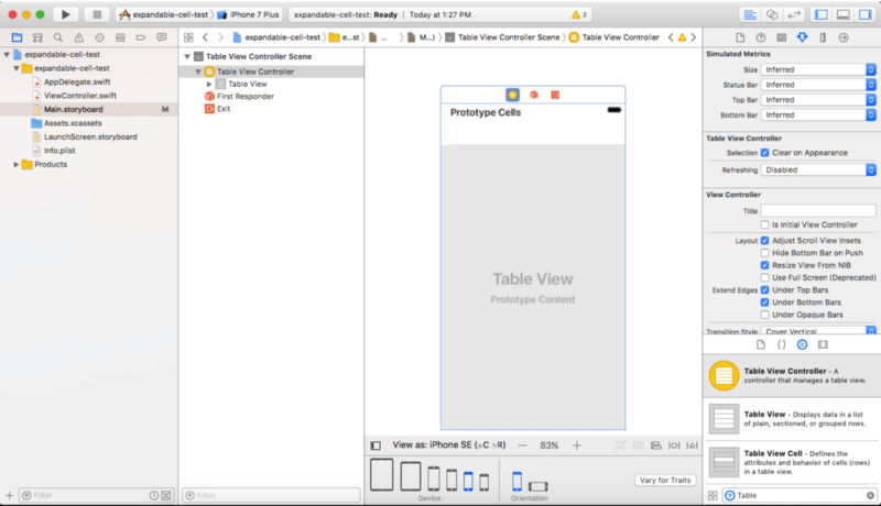 Implementing the expandable cell in iOS UITableView - DEV Community