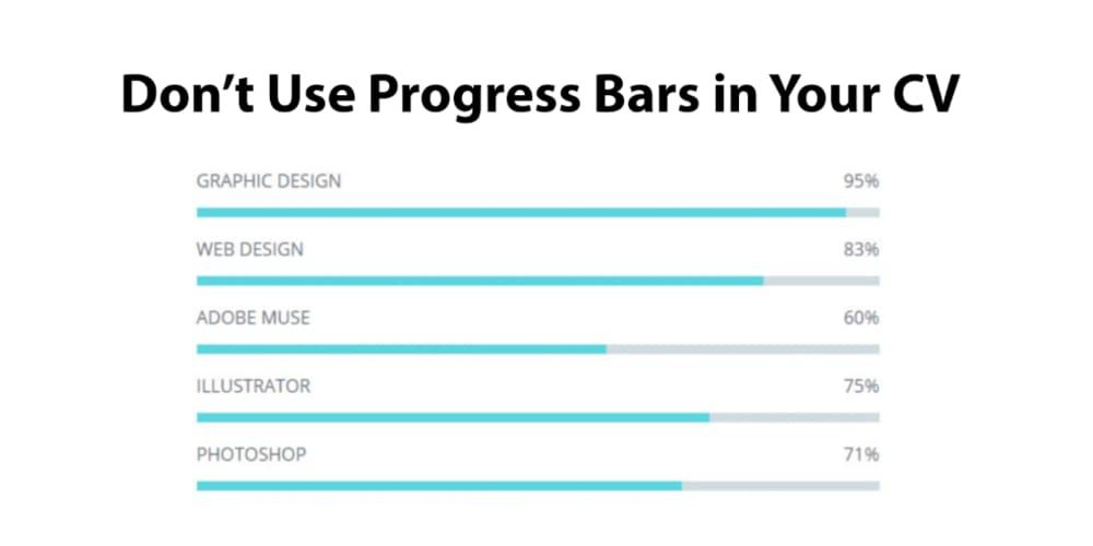 Don't use progress bars in your CV - DEV Community 👩 💻👨 💻
