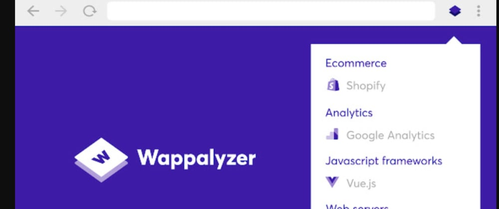 Cover image for Wappalyzer : identifies technologies on websites with this Chrome Extension