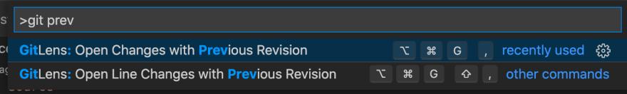Visual Studio Code Show Previous Commit