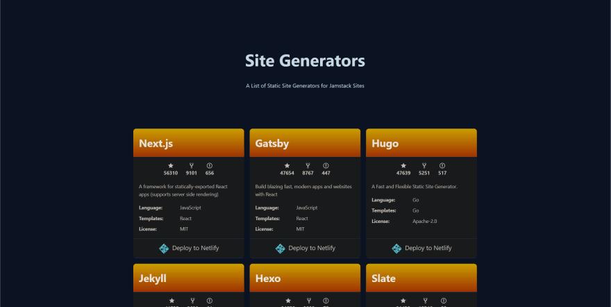 jamstack website preview