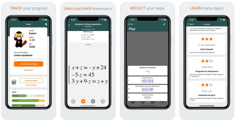 React Native apps: Maphi app screenshots