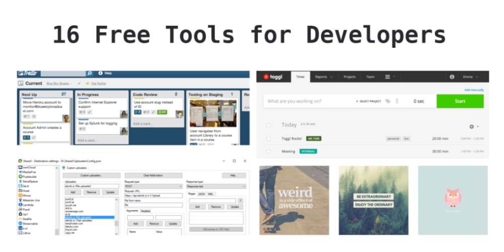 16 free tools & services that any developer should use - DEV