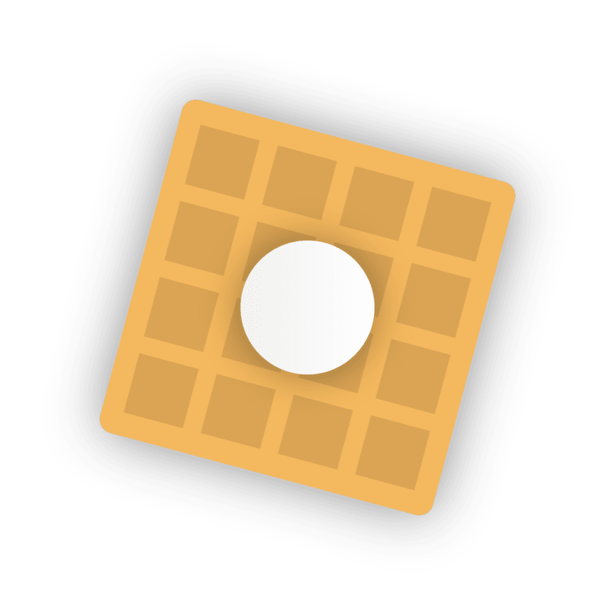 Square icon with transparent background