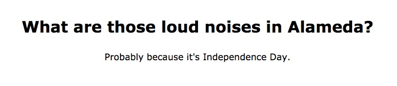 Probably because it's Independence Day
