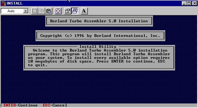 Turbo Assembler readme