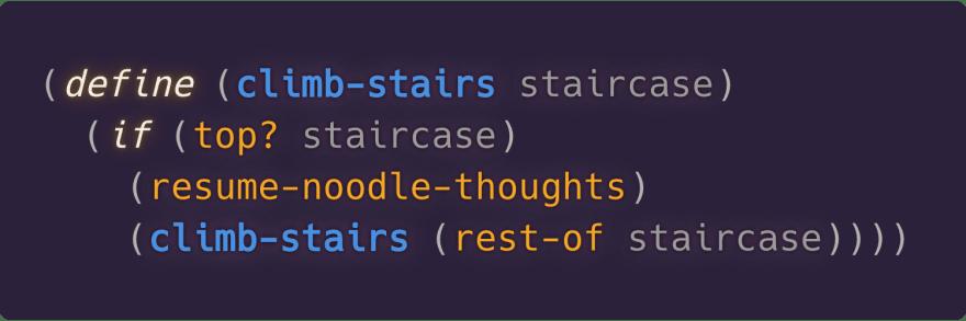 Staircase climbing algorithm
