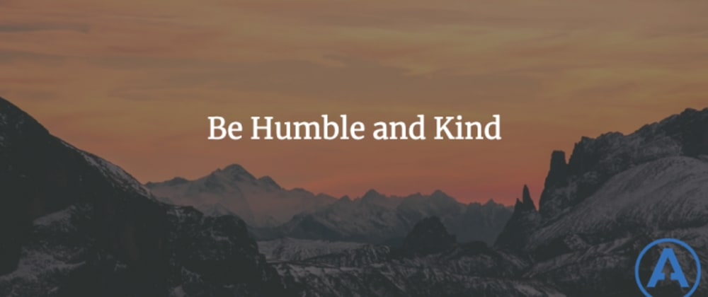 Cover image for Be Humble and Kind