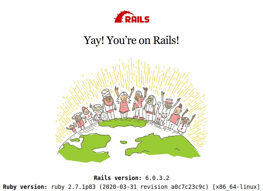 Rails new project splash screen
