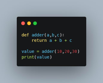 function to add 3 numbers