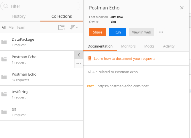 Form collection tab you can access your Collections