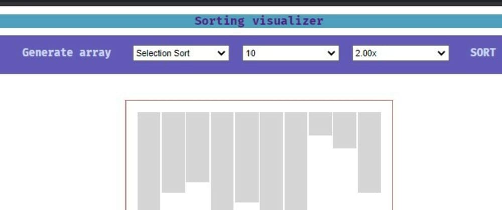 Cover image for Sorting Visualizer