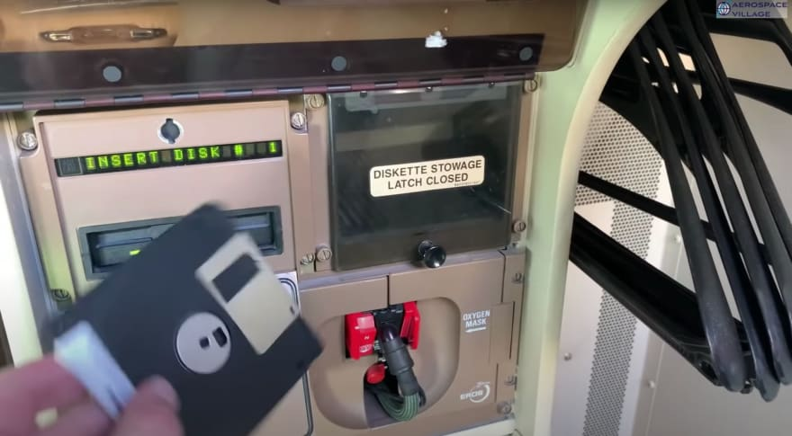 Do airplanes still use floppy disks for updates? Why?