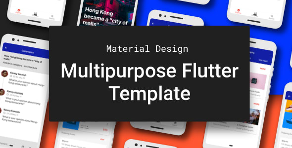 Multipurpose Flutter Template based on Material<br> Design
