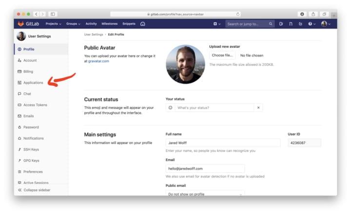 Gitlab profile