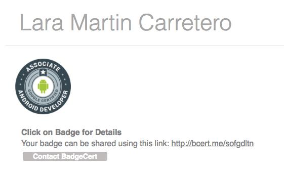 My developer certification