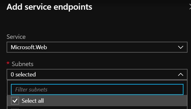 service endpoints