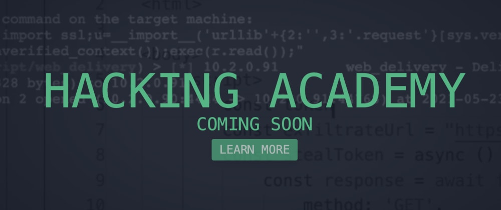 Cover image for Hacking Academy - Help me out!