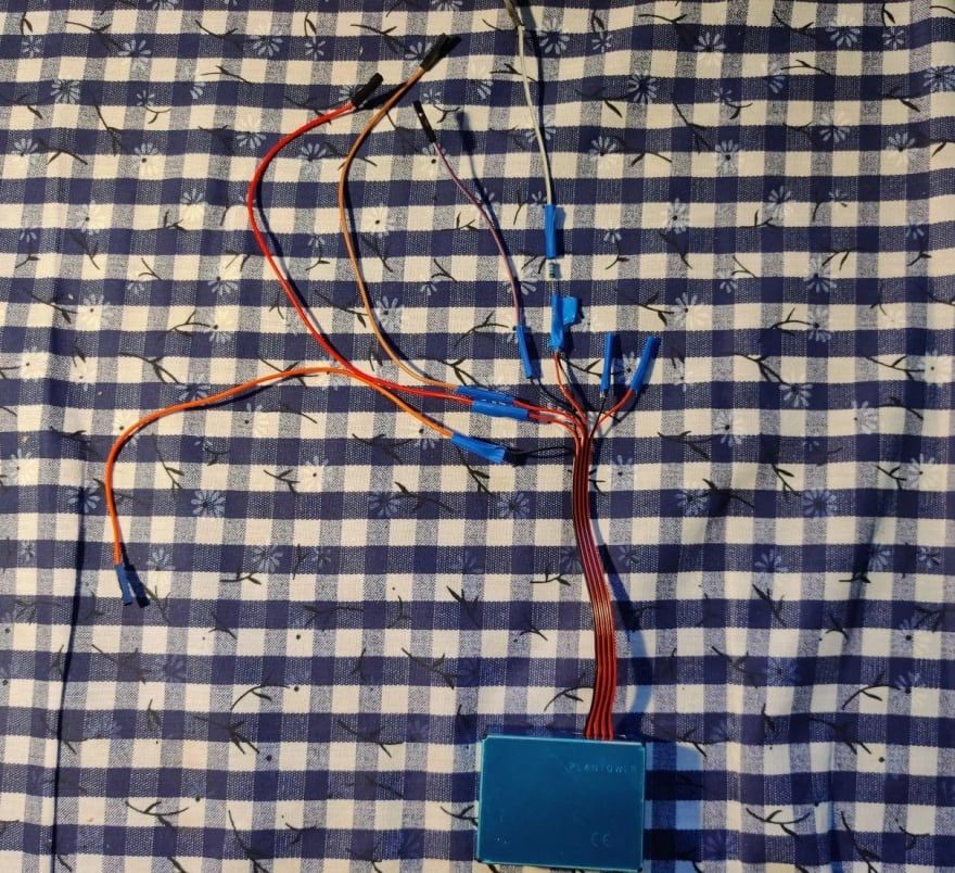 sensor with cables