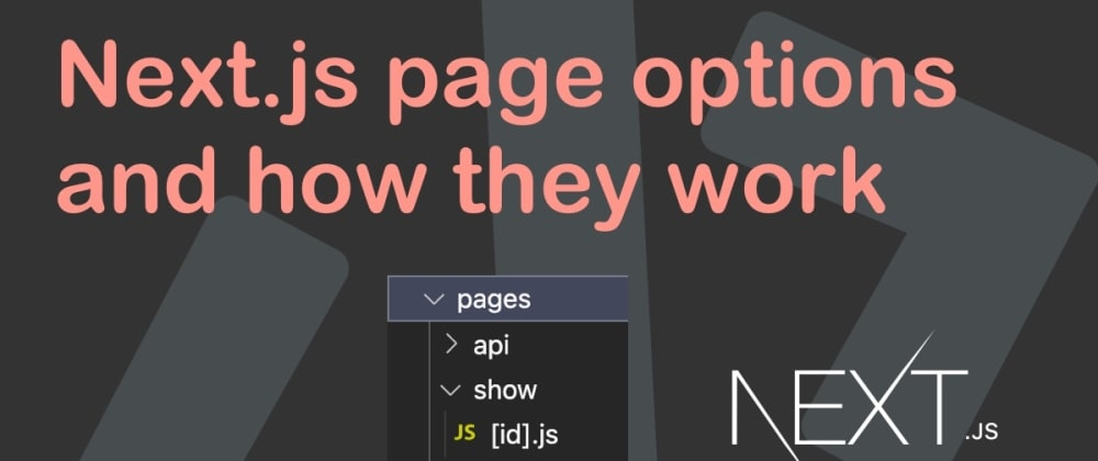 Cover image for Next.js page options and how they work