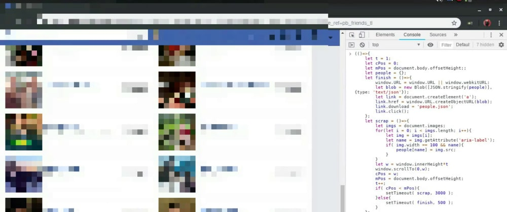 Cover image for Scrapping Facebook with JavaScript