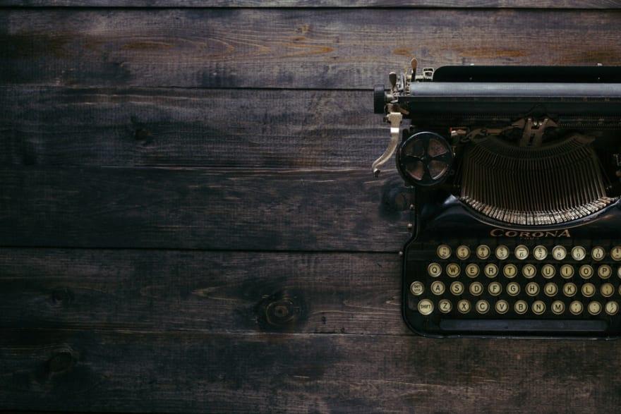 Presentation image of typewriter