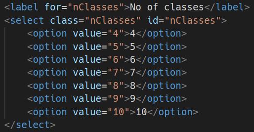 Taking data using select
