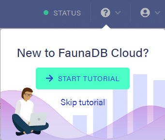 Fauna tutorial popup