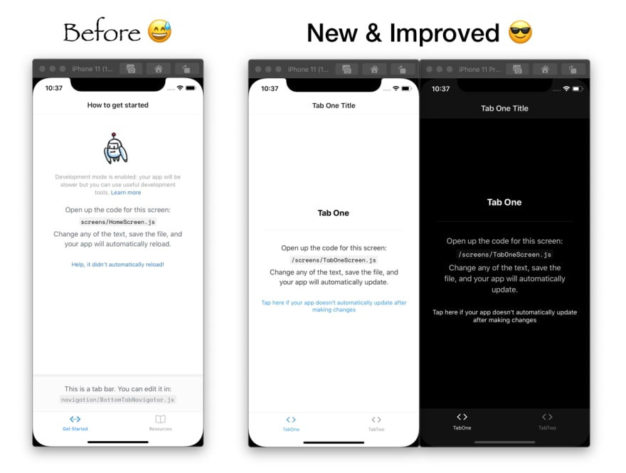 The new and improved tabs template on iOS