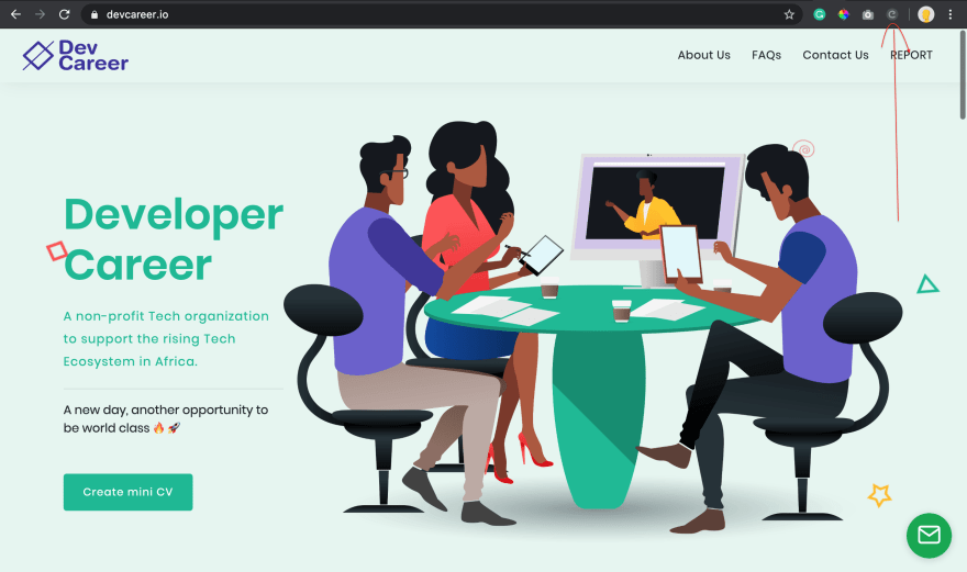 Home page of devcareer.io