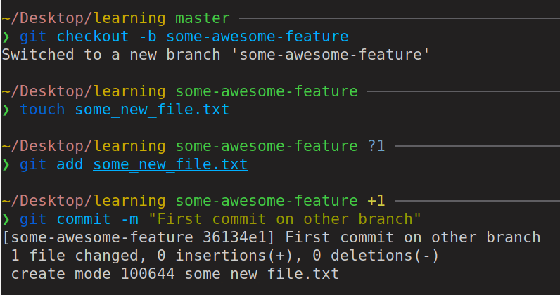 new branch commit