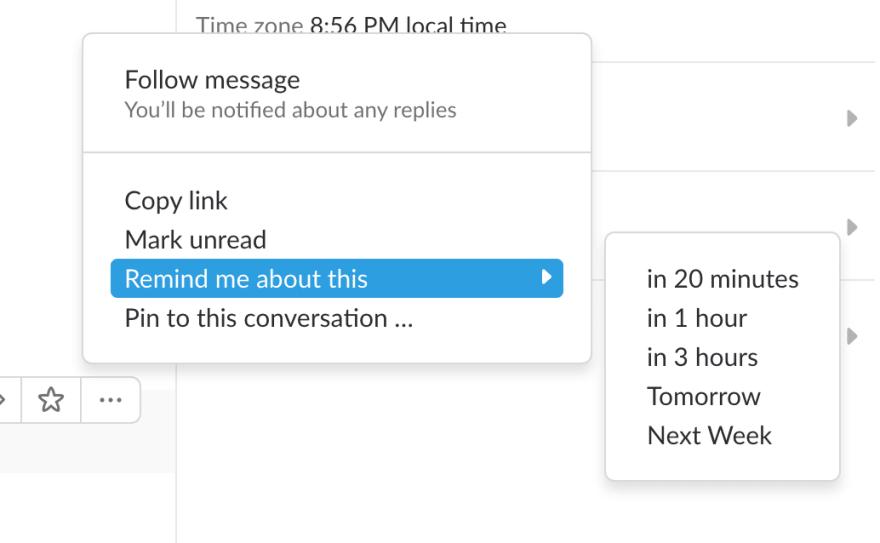 Slack Message Reminders