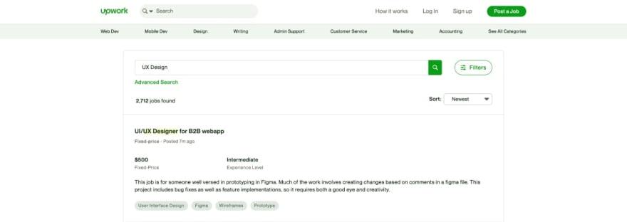 Upwork website