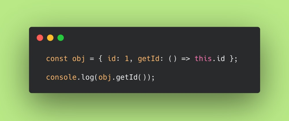 Cover image for JS Test #5: Can you use an arrow function as a getter?