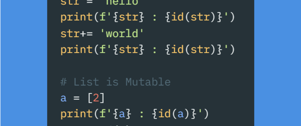 Cover image for #Day5 - The terms Hashable and Mutability