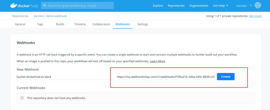 DockerHub config