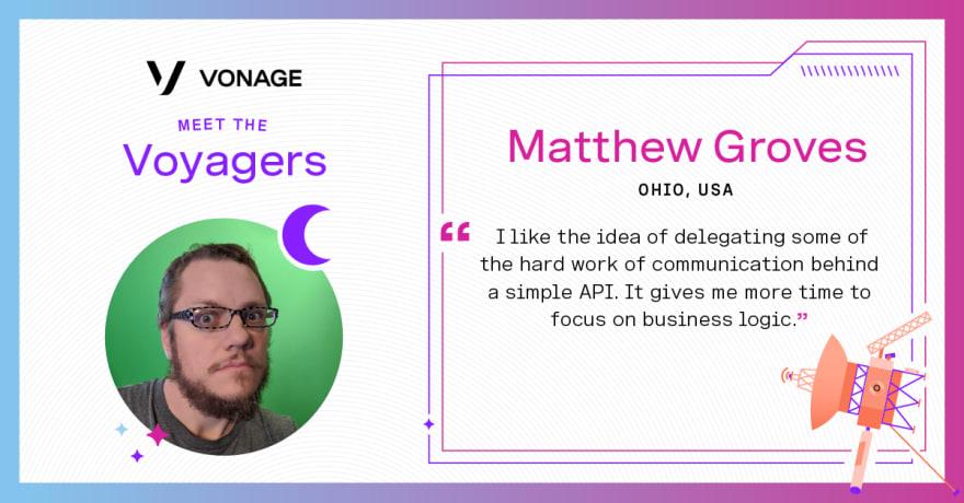 Matthew Groves - Vonage Voyager