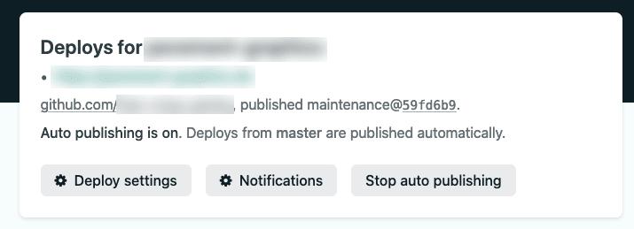 "Screenshot of UI containing ""Stop auto publishing"" button"