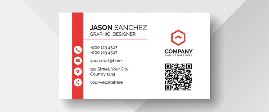 business card qr code generator