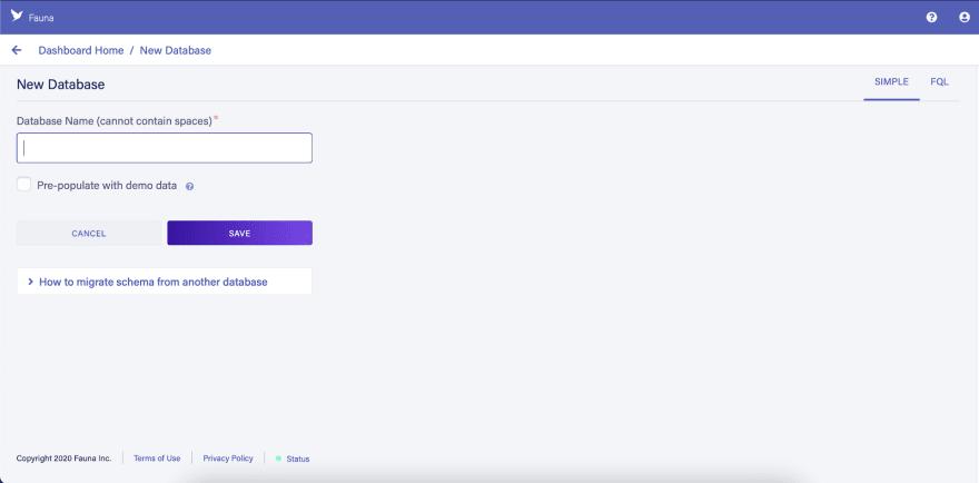create database image