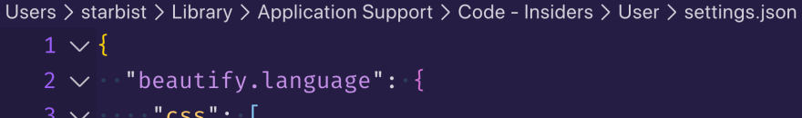 Screenshot of breadcrumbs in VS Code editor.