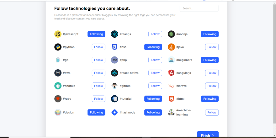 Hashnode Fllow technologies you care about  07.png