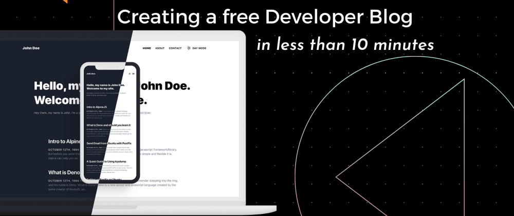 Cover image for How to create a free Developer Blog in less than 10 minutes?