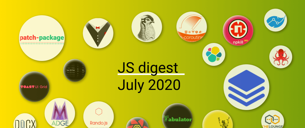 Cover image for 34 most popular JS repositories on GitHub in June 2020