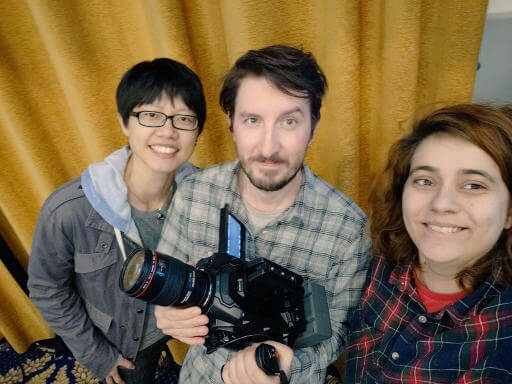 Sarah Vieira and I with the photographer for JSHeroes who has an uncanny resemblance to Brian Holt