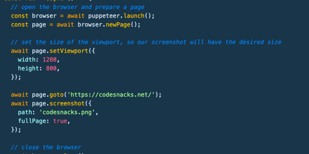 📷 How to take a screenshot of a webpage with JavaScript