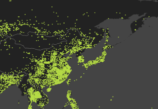 Steam traffic map